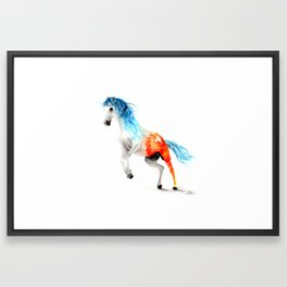 Fire and Ice - Watercolour Horse Painting Framed Art Print