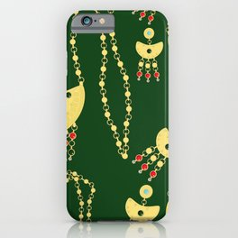 Traditional jewelery green iPhone Case