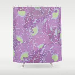 Flushed & Tropical Shower Curtain