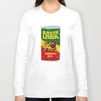 rasta Long Sleeve T-shirts featuring Rasta Lager by Moto