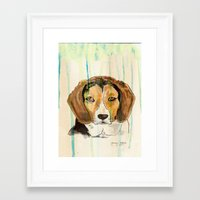 beagle Framed Art Prints featuring Beagle by Tammy Kushnir