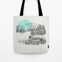pirates Tote Bags featuring Pirates by Zeke Tucker