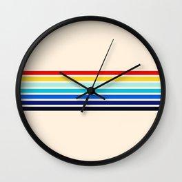 Classic 70s Style Retro Stripes - Inera Wall Clock
