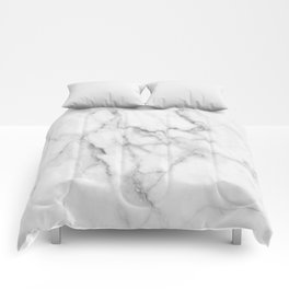 Clean White Marble Comforters