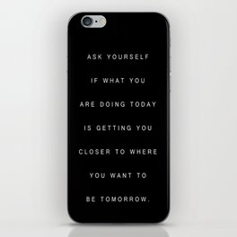 WISE WORDS iPhone Skin