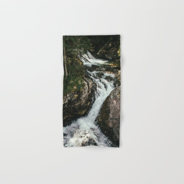 Waterfall In The Mountains Hand & Bath Towel