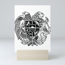 ARMENIAN COAT OF ARMS - Black Mini Art Print