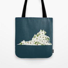 Virginia in Flowers Tote Bag