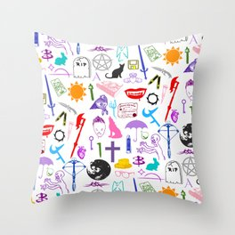 Buffy Symbology, Multi-color / Rainbow / PRIDE! Throw Pillow