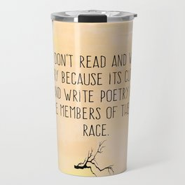 Read and Write Poetry Dead Poets Society Travel Mug