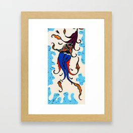 An Ottoman Iznik style floral design pottery polychrome, by Adam Asar, No 43 a Framed Art Print