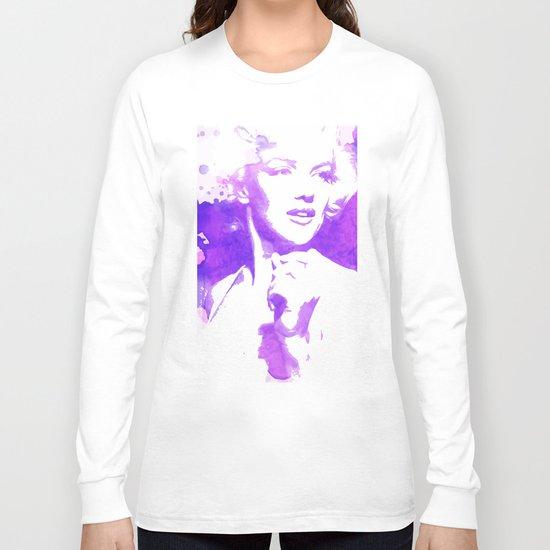 Marilyn Watercolor II Long Sleeve T-shirt