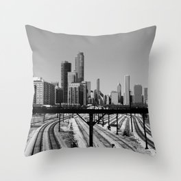 Building Tracks Throw Pillow
