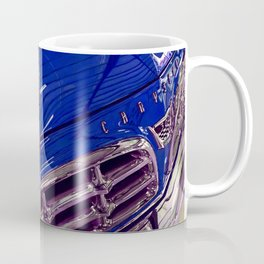 1955 Vintage Chrysler 300 Car Art Painting - Deep Blue Coffee Mug