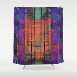 an elaborate burn Shower Curtain