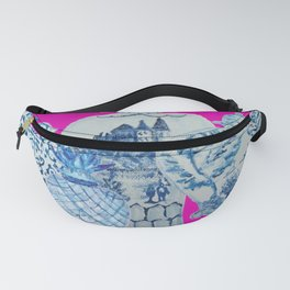 Hot Pink Blue and White Ginger Jars  Fanny Pack