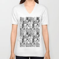 alphabet V-neck T-shirts featuring Alphabet by Clare Corfield Carr