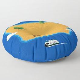 Iowa Island Floor Pillow