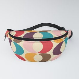 Mid Century Modern Circles Fanny Pack