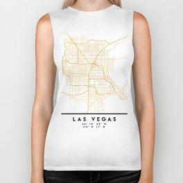 LAS VEGAS NEVADA CITY STREET MAP ART Biker Tank