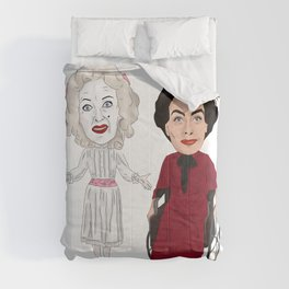Whatever Happened to Baby Jane, Bette Davis, Joan Crawford Inspired Illustration Comforters