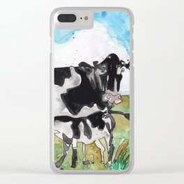 Mommy Milk Cow Clear iPhone Case