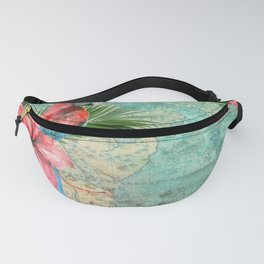 Tropical Map Fanny Pack