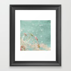 Candy Wheel Framed Art Print