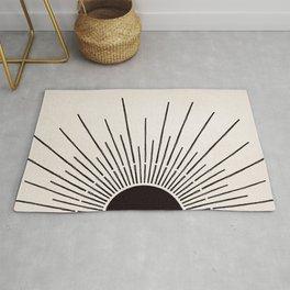 Sun #5 Black Rug