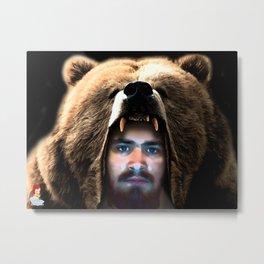 The Bear Man - soft version Metal Print