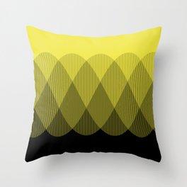 Yellow Ombre Signal Throw Pillow