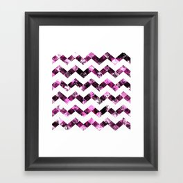 Purple Zig Zags I Framed Art Print