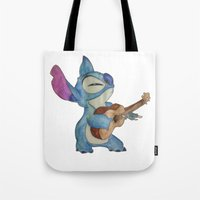 stitch Tote Bags featuring Stitch by Elyse Notarianni