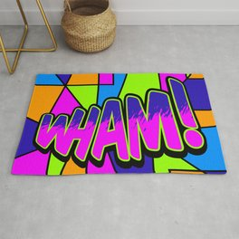 wham in neon Rug