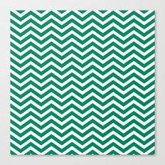 chevron emerald Canvas Print
