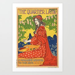 The Quartier Latin was the journal of the American Art Association of Paris, published in the late 1 Art Print