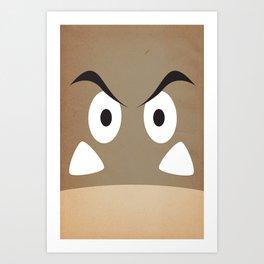 minimal shroom Art Print