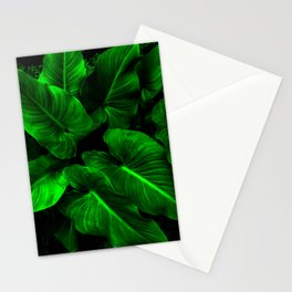 Arum Lilly Leaves Stationery Cards