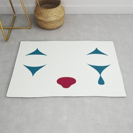 Minimalist Clown Makeup Rug