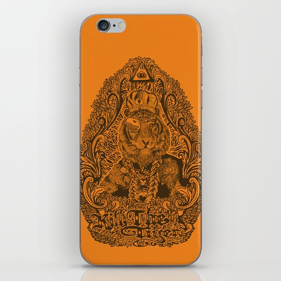 kill the tiger iPhone & iPod Skin