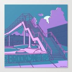 Brooklyn Street Skate Park Canvas Print
