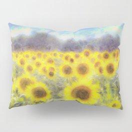 Sunflower Fields Of Dreams Art Pillow Sham