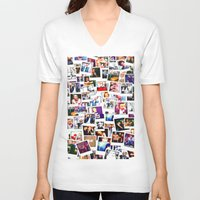 1d V-neck T-shirts featuring POLAROID ONE DIRECTION 1D by BESTIPHONE5CASESHOP