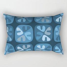 blue boomerangs Rectangular Pillow