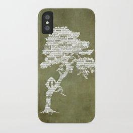 Bohdi Tree - White iPhone Case