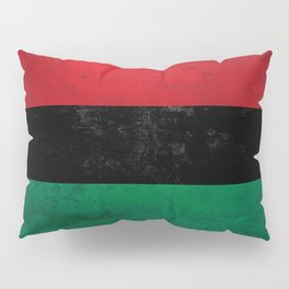 Distressed Afro-American / Pan-African / UNIA flag Pillow Sham