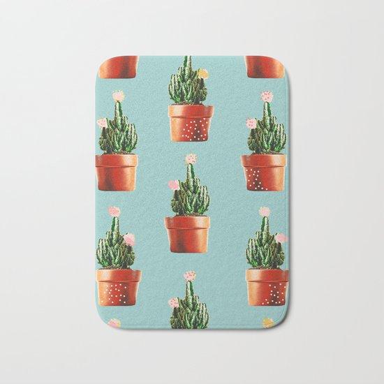 Cactus in Copper Pots #society6 #decor #buyart Bath Mat