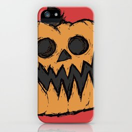 spoopy pumpkin iPhone Case