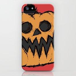 spoopy pumpkin iPhone Case