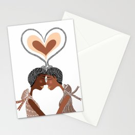 Love Braids Stationery Cards